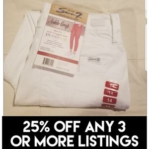 New Seven7 jeans colored white ankle skinny denim